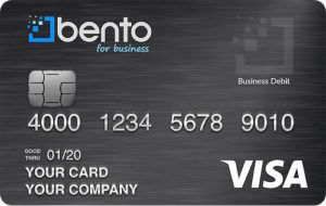 Bento for business Visa debit cards are great for virtual card payments.