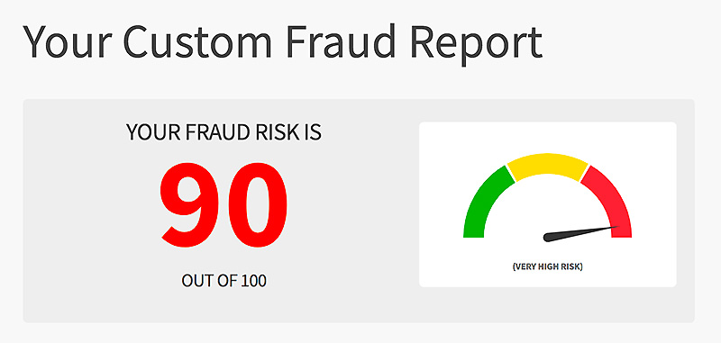 Using a fraud calculator shows how at risk you are.