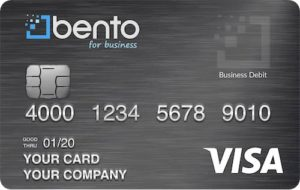 Bento for business offer business Visa debit cards. They have all the benefits of a gas debit card and fuel card with more expense management controls.