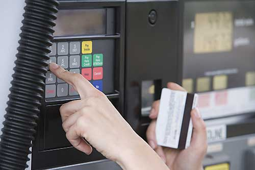 Gas cards and gas credit cards reduce fraud risk.